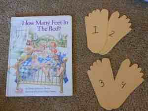 Feet cut out of construction paper