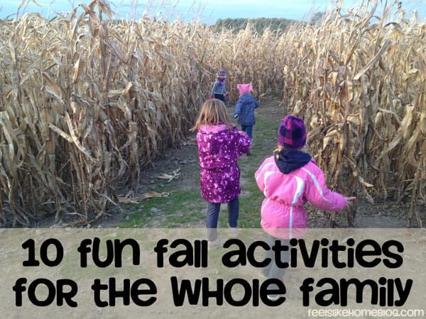 A group of girls running through a corn maze