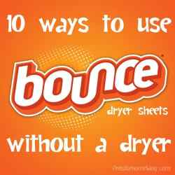 10 Ways to Use Bounce Dryer Sheets (Without a Dryer)
