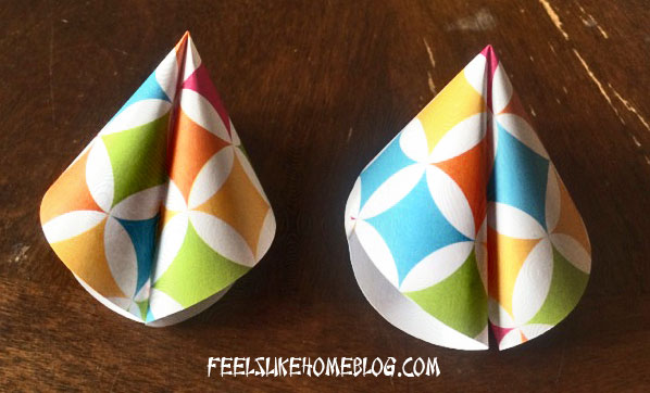 How to make Paper Fortune Cookies Tutorial - Two finished cookies