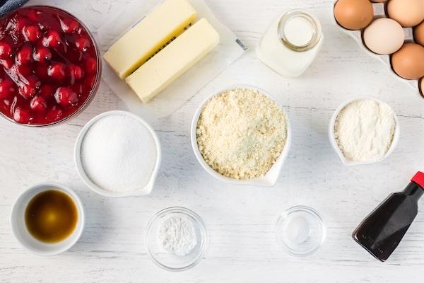 gluten free cherry almond cake ingredients
