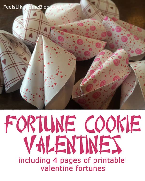 Valentine fortune cookies