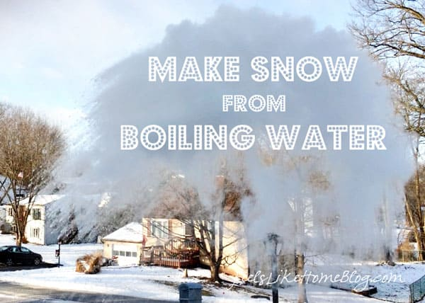 How to Make a Snow Cloud from Boiling Water - Awesome and cool science experiment to be done in extremely cold weather.