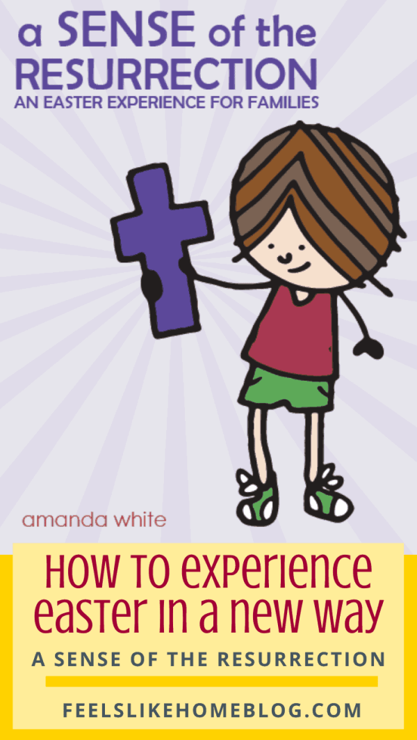 A drawing of a girl with a purple cross