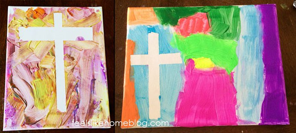Cross resist painting - Finished paintings with tape removed
