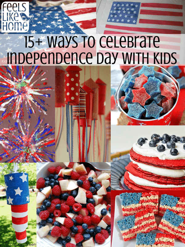 How to Celebrate the 4th of July with Kids - Independence Day can be fun for the whole family! Tips, activities, and craft ideas for children.