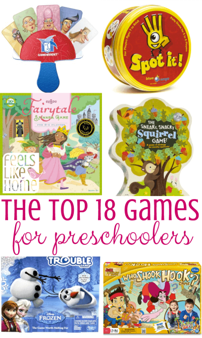 A bunch of different preschool games