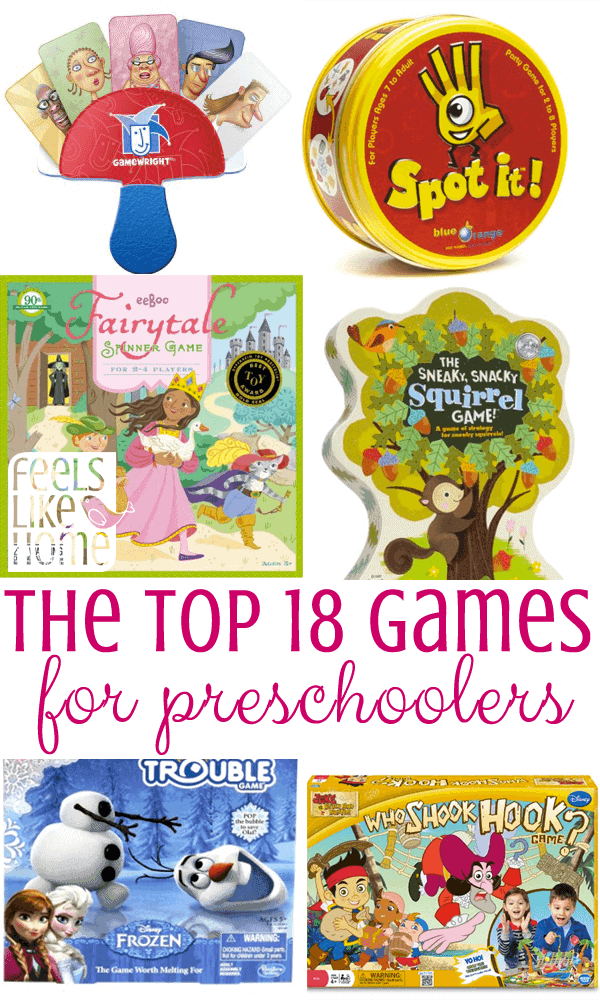 A bunch of different preschool games
