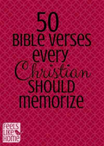 50 Bible verses every Christian should memorize - Perfect for men, women, teens, and families with children, this list includes the best scriptures, prayers, and words of truth that everyone should hide in their hearts. Includes quotes from Jesus Christ and The Lord God.