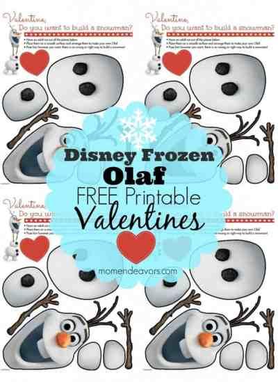 Disney Frozen Olaf Free Printable Valentines