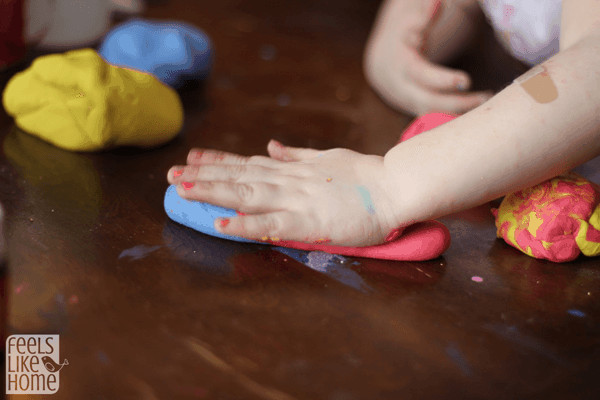 Color theory using play dough
