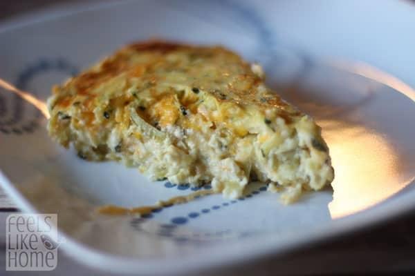 Quick and Easy Gluten-Free Zucchini Quiche