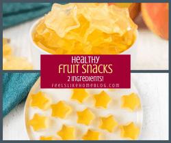 A close up of fruit snacks