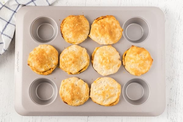 baked beef BBQ biscuit cups