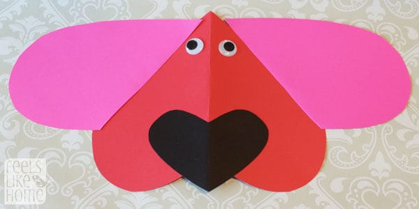 Valentine\'s Day Heart Animal Crafts for Kids - Feels Like Home™