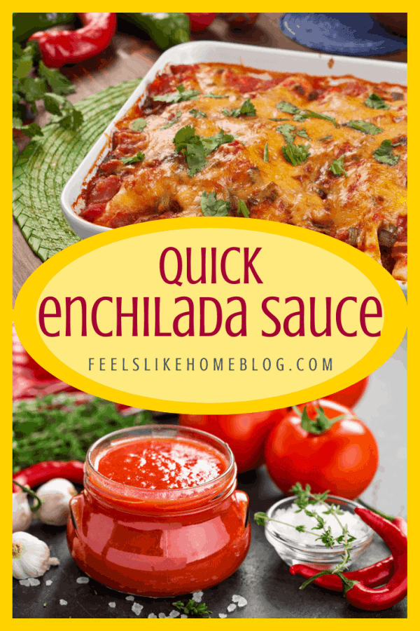 A collage of enchilada sauce