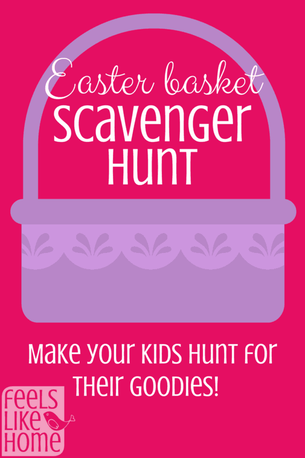 Free printable easter scavenger hunt feels like home this easter basket scavenger hunt includes free printable clues for kids or teens lots of negle Choice Image