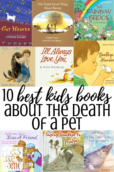 When a pet dies, children sometimes don't know how to handle their sad feelings. Some don't understand what death means and don't understand that they will never see their beloved pet again. These 10 kids books will help to explain what has happened on a child's level and will help them understand the tough emotions they are facing. Includes both religious and non-religious books, cats, dogs, mice, and goldfish.