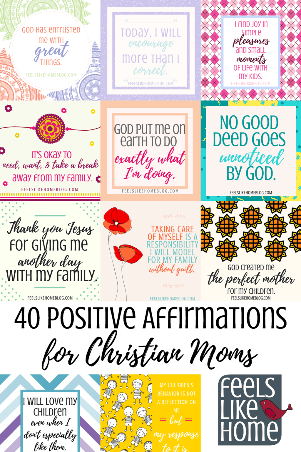 40 Positive Affirmations For Christian Moms With