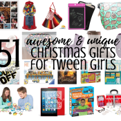51 Awesome & unique Christmas gift ideas for tween girls - These fun ideas are sure to please the tweens in your life! Whether they're 9, 10, 11, or 12 years old, there is something on this list for them for the holidays or even for birthdays!