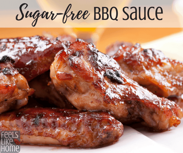 The world's best sugar-free, gluten-free, low carb, healthy BBQ sauce - This simple, easy, homemade recipe has no added sugars (not even honey) and features chili powder and liquid smoke for the familiar flavor you love. The spices work well for any meat.