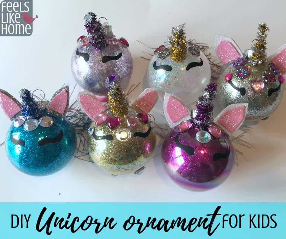 Unicorn Ornament - DIY Christmas Tree Ornament Craft for ...