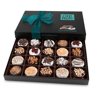 A box of chocolate covered Oreos