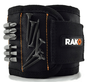 magnetic wristband for tools and screws