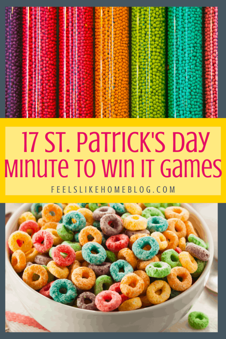 17 St. Patrick\'s Day Minute to Win It Games for Kids and Families