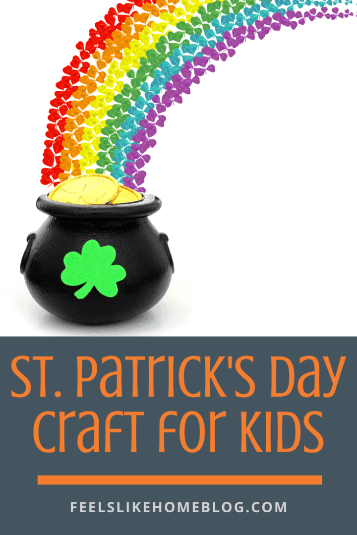 Rainbow Paper Chain Pot of Gold St. Patrick\'s Day Craft for Kids