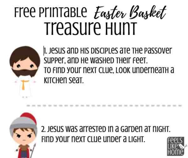 Easter basket scavenger hunt preview