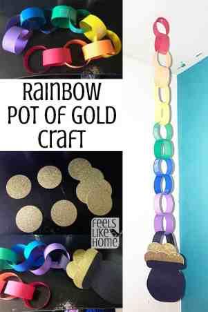 Rainbow pot of gold craft