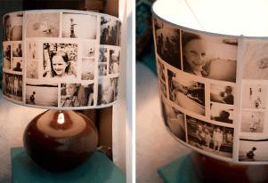 homemade photo lampshade