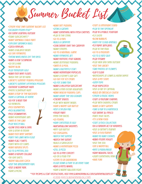 printable bucket list with text