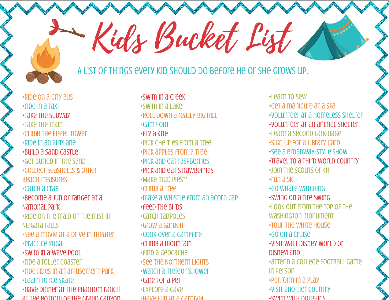 Kids Bucket List - 82 Things To Do Before They Grow Up - Feels Like ...
