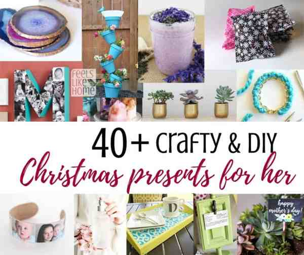crafty diy sentimental and thoughtful christmas gift ideas from daughter or adults or teens or tweens