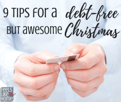 9 tips and ideas for a debt free Christmas without credit cards - Including how to start a savings plan for next year.