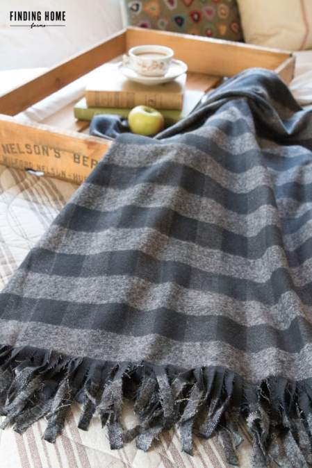 homemade flannel blanket