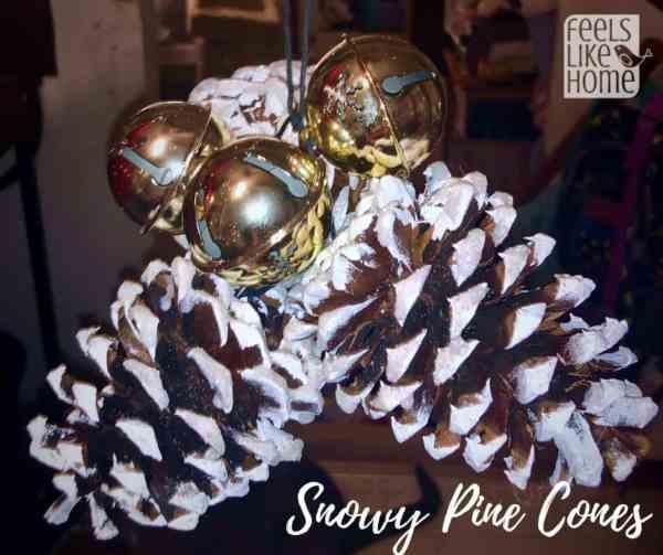 A pine cone Christmas ornament