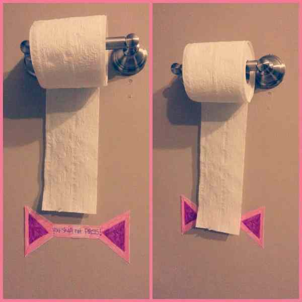 A toilet paper roll