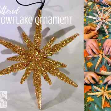 snowflake made out of clothespins