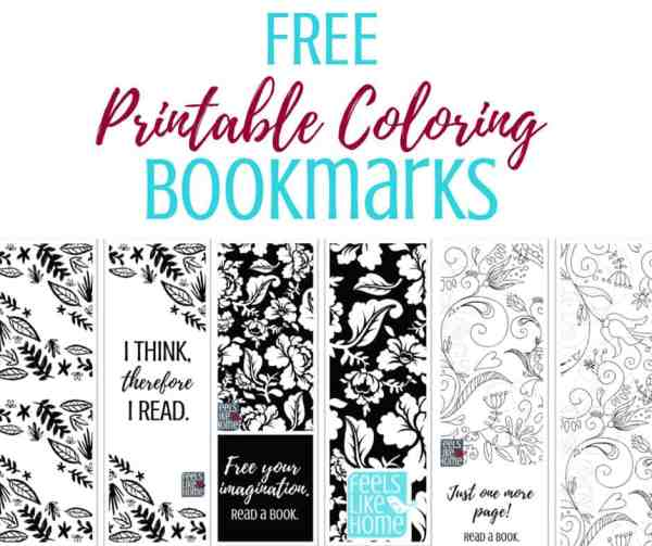 Free Printable Coloring Bookmarks | Feels Like Home™