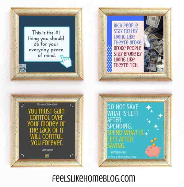 A collage of quote printables