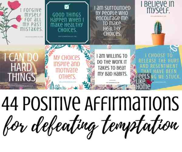 A collage of printable affirmations
