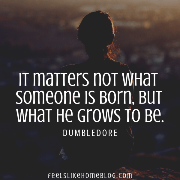It matters not what someone is born, but what he grows to be. Awesome Harry Potter quotes from Dumbledore, Snape, Harry, Hermione, Sirius, and more. I love all these quotes to live by. The best printable quotes for a tattoo. Meaningful truths.