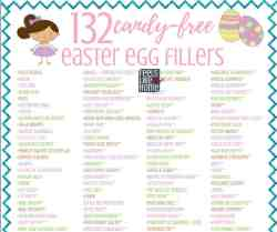 The ultimate list of 132 unique and creative Easter egg fillers for kids of all ages - toddlers, preschoolers, even tweens and teens. Cheap and totally non candy and great for girls and boys. Lots of DIY and dollar store ideas that will work at school or home. This is the best big list of ideas and even includes money! Children and families will love these treats!