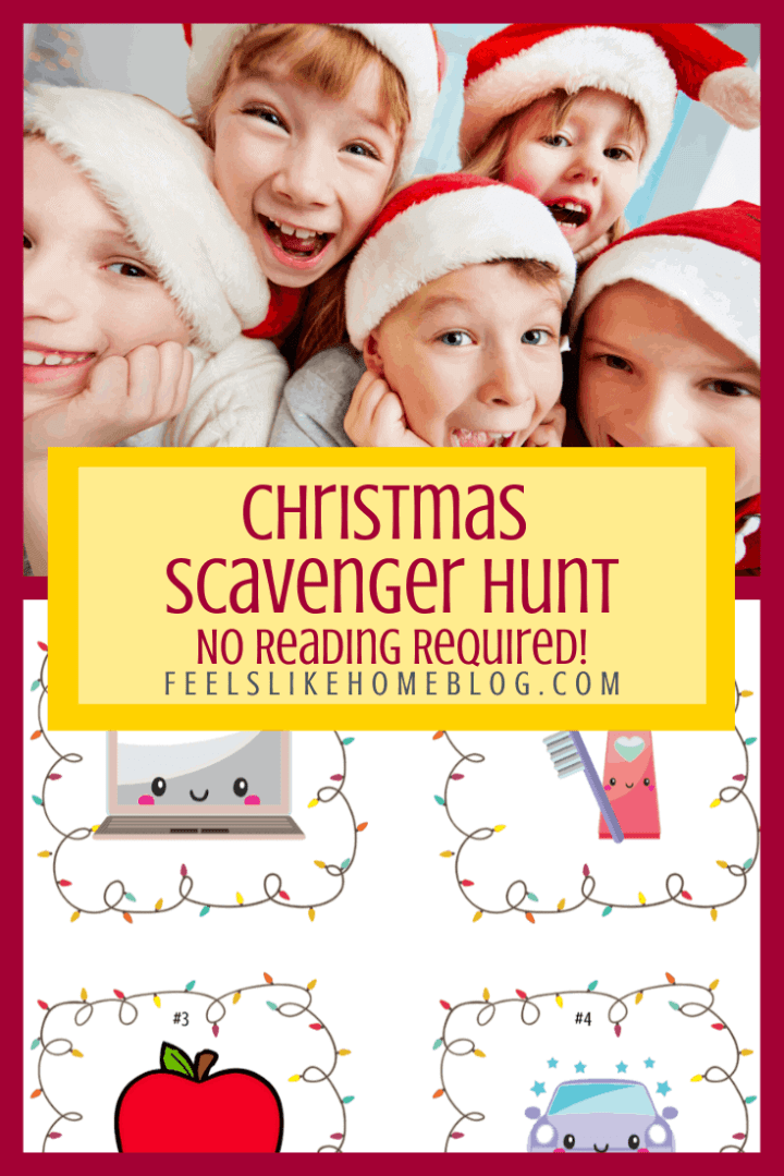 Christmas Scavenger Hunt - No Reading Required
