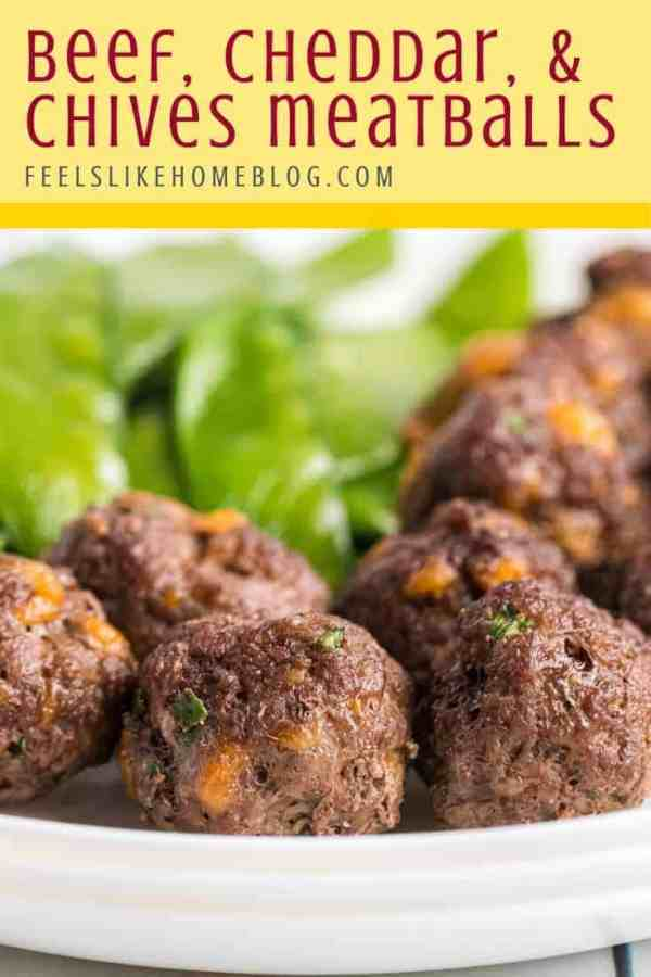 A bunch of Beef Meatballs on a plate