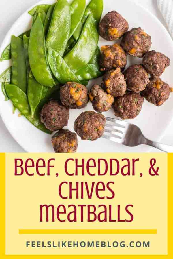 A bunch of Beef Meatballs with snow peas