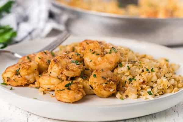 cajun shrimp scampi plated
